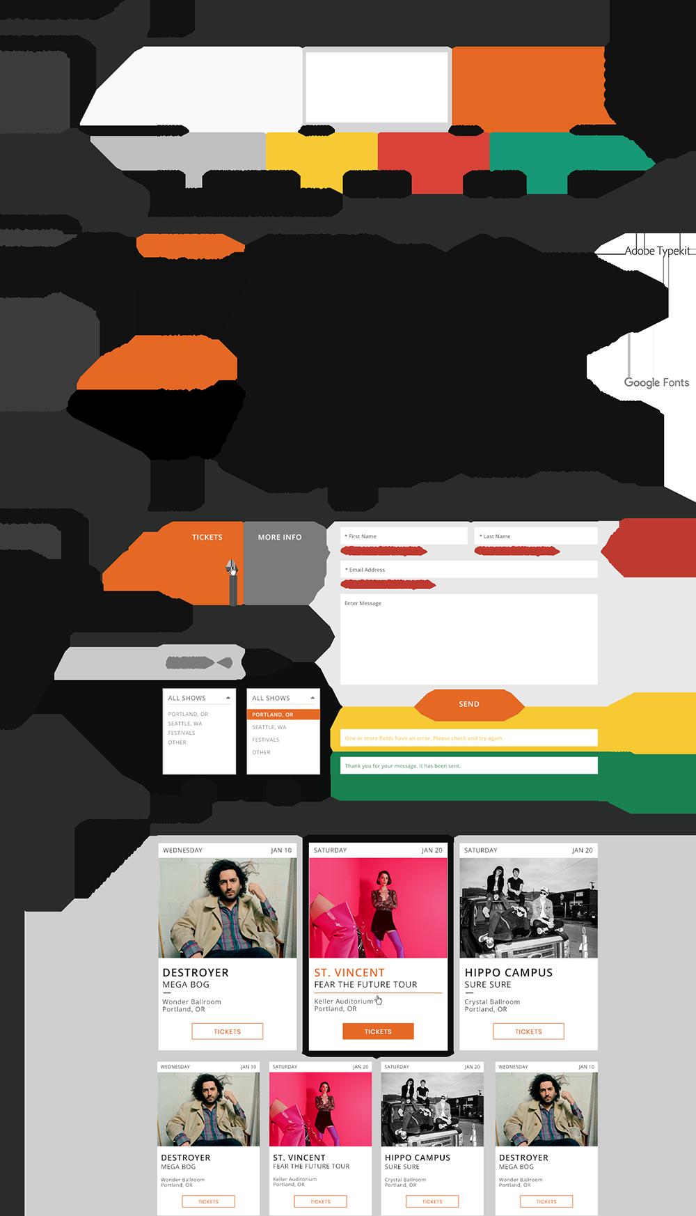 The Build Collective - Styleguide Design - True West Presents